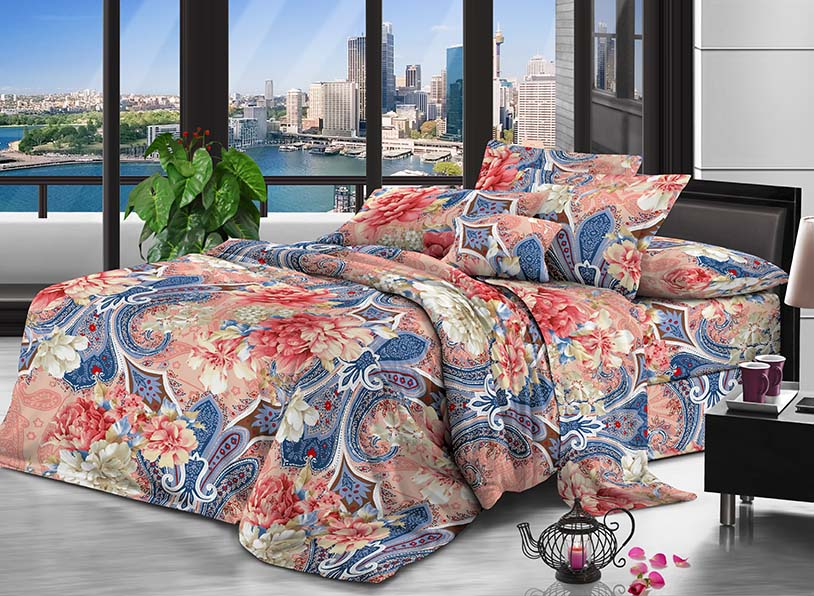 100% Polyester microfiber fabric peach 110gsm 230cm Disperse Printing for bedding