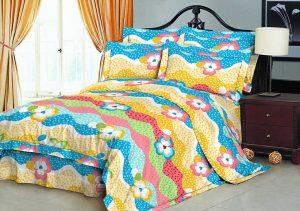 100% Poliestere spazzolato tessuto in microfibra 70 gsm 230 cm Pigment Stampato per biancheria da letto