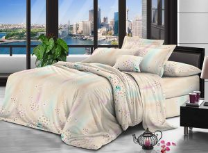 100% Polyester brushed microfiber fabric 75 gsm 240 cm Pigment Printed for bedding