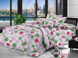 100% Polyester fabric 65gsm 220cm Pigment Printed for bedding