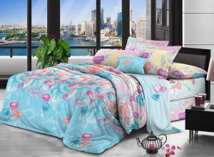 100% Polyester fabric 70gsm 220cm Pigment Printing for bedding