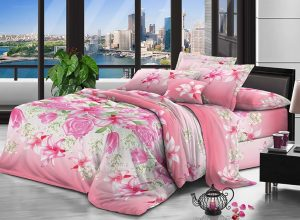 100% Polyester microfiber fabric brushed 70gsm 220cm Pigment Printing for bedding