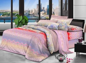 100% Polyester peach microfiber fabric 65 gsm 235 cm Pigment Printing for bedding
