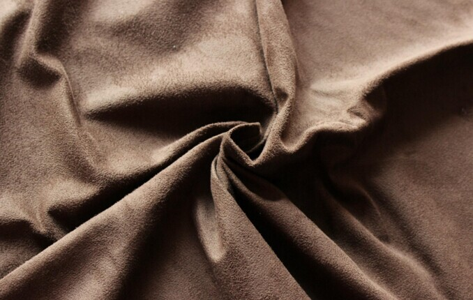 Polyester micro faux warp suede fabric brushed 180 gsm
