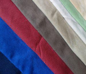 Polyester micro faux warp Wildleder Stoff gebürstet 110 gsm