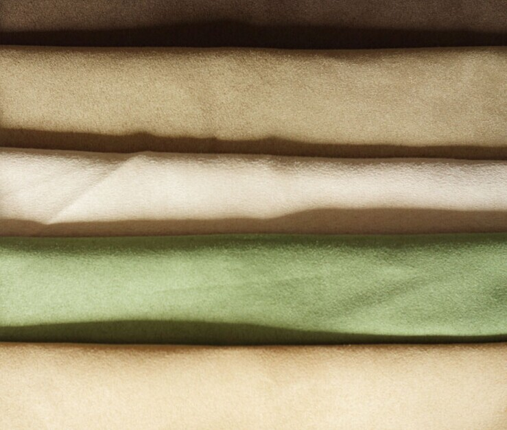 Polyester micro faux warp suede fabric brushed 120 gsm