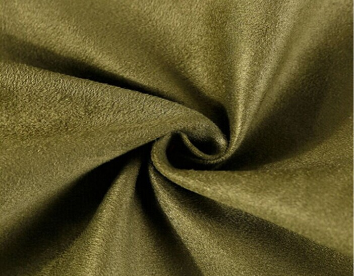 Polyester micro faux warp suede fabric brushed 150 gsm