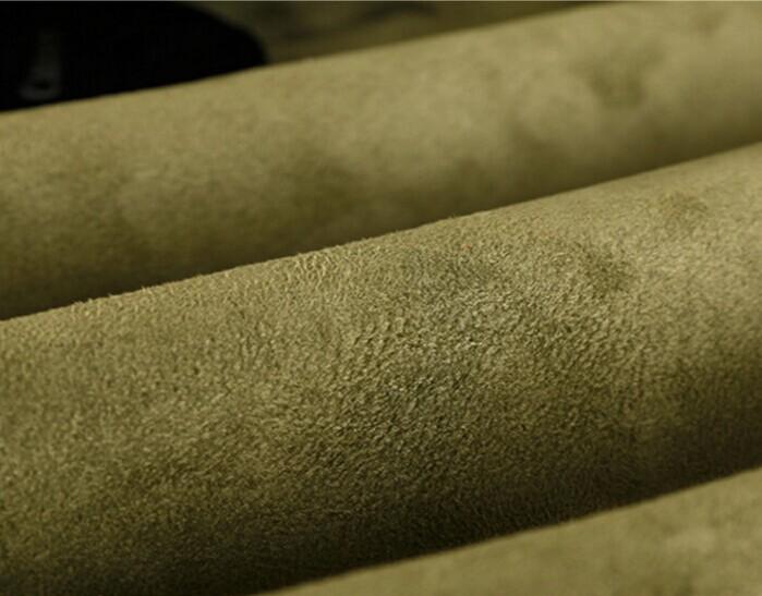 Poliestere micro finto ordito del tessuto della pelle scamosciata burshed 160 gsm