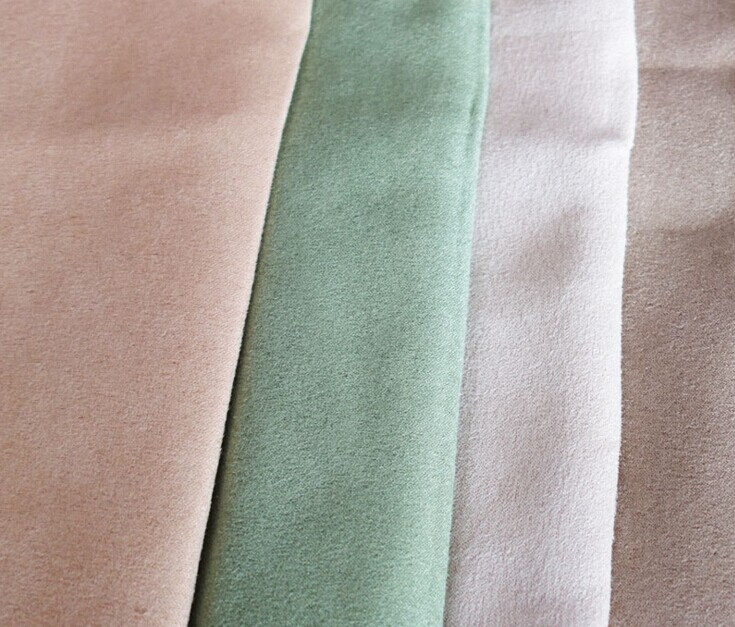 Polyester micro faux warp suede fabric brushed 110 gsm