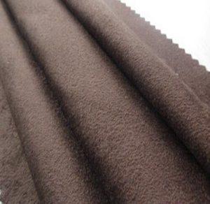 Polyester synthetischen Mikrofasergewebe Kett- Veloursleder 180 gsm