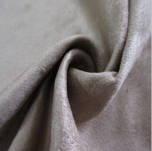 Polyester synthetischen Mikrofasergewebe Kett- Veloursleder 200 gsm