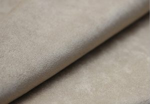 Polyester synthetic microfiber weft brushed satin suede fabric 135 gsm