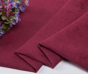 Polyester synthetic microfiber weft suede fabric 140 gsm
