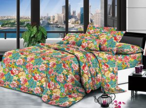 100% Polyester brushed microfiber fabric 105 gsm 230 cm Disperse Printed for bedding