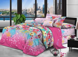 100% Polyester brushed microfiber fabric 110 gsm 230 cm Disperse Printing for bedding
