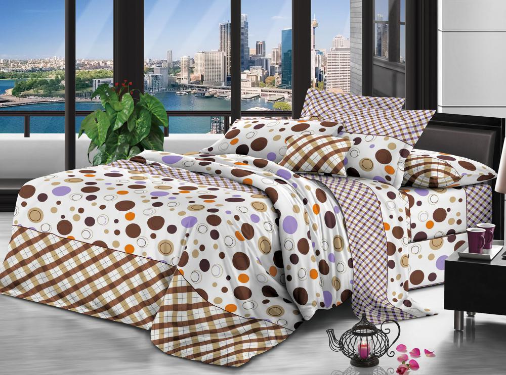 100% Polyester Microfaser gebürstet 85gsm 235cm Pigmentdruck für Bettwäsche