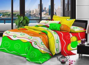 100% Полиэстер микрофибра ткань персика 100gsm 240см дисперсных Printed для постельных принадлежностей