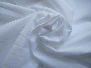 Microfibra di poliestere Tessuto Peach, colore bianco Finito 110 gsm