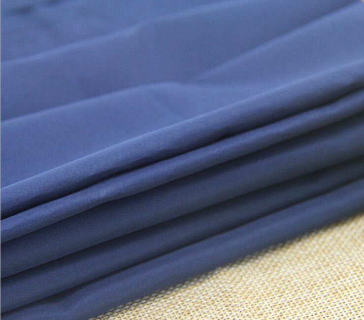 Polyester microfiber pongee 300T fabric 65 gsm plain dyed
